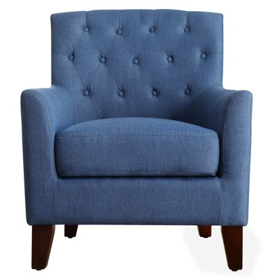 Kilmersdon Tufted Armchair Color: Royal Blue