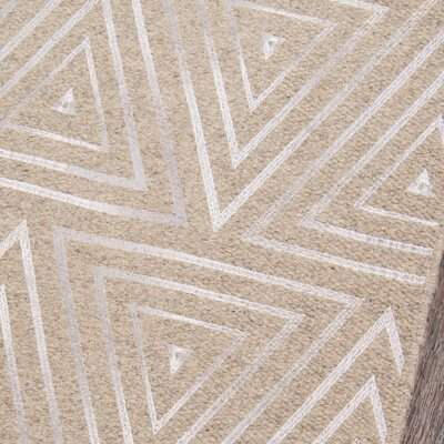 Zelda Hand-Woven Sand Area Rug Rug Size: Runner 23 x 8