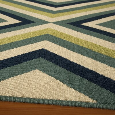 Wexler Blue/Green Indoor/Outdoor Area Rug Rug Size: 53 x 76