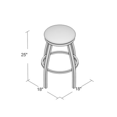 Cragin 25 Swivel Bar Stool Upholstery: Rein Thatch, Finish: Stainless