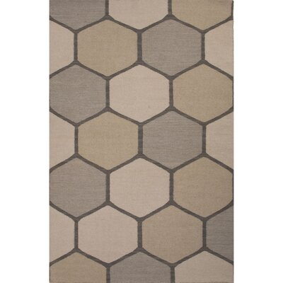 Benson Gray Geometric Indoor/Outdoor Area Rug Rug Size: 8 x 11
