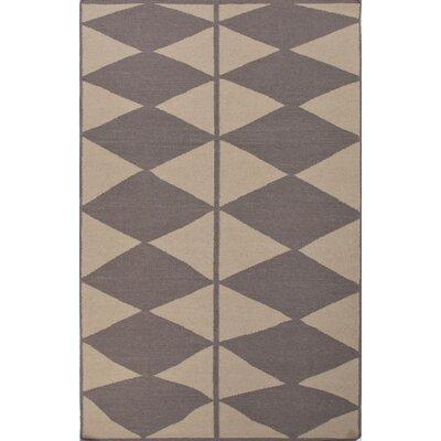 Benson Gray/Ivory Geometric Indoor/Outdoor Area Rug Rug Size: 4' x 6'
