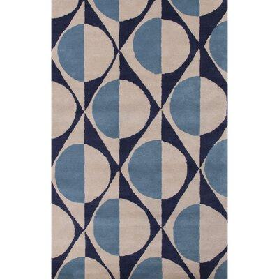 Benson Blue/Gray Geometric Area Rug Rug Size: 2' x 3'