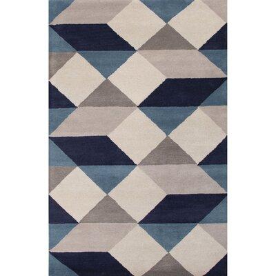 Benson Gray/Blue Geometric Area Rug Rug Size: 8 x 11