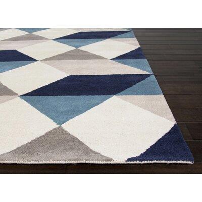 Benson Gray/Blue Geometric Area Rug Rug Size: 2 x 3