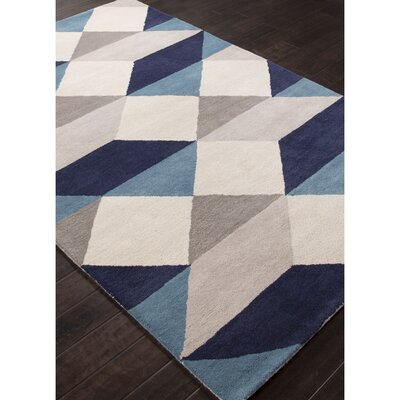 Benson Gray/Blue Geometric Area Rug Rug Size: Rectangle 8 x 11