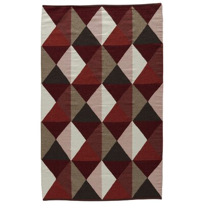 Dorset Ruby Hand-Woven Wine/Tandori Spice Area Rug Rug Size: Rectangle 5 x 8