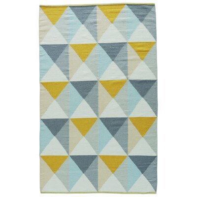 Dorset Hand-Woven Mimosa/Surf Spray Area Rug Rug Size: Rectangle 8 x 11