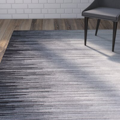 Colunga Black Area Rug Rug Size: Rectangle 67 x 9