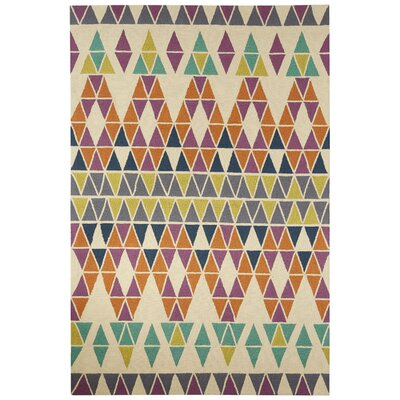 Throncliffe Ivory/Purple Indoor/Outdoor Area Rug Rug Size: Rectangle 76 x 96
