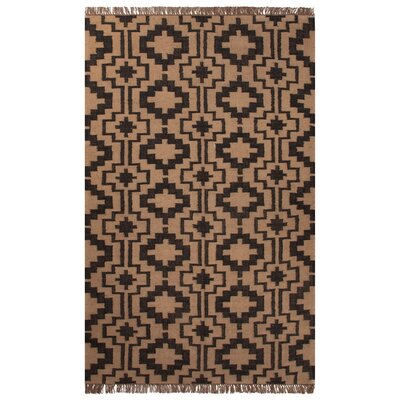 St Philips Black/Tan Area Rug Rug Size: 5 x 8