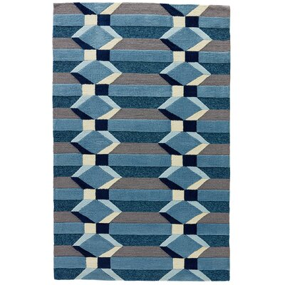Throncliffe Aegean Blue/Gray Indoor/Outdoor Area Rug Rug Size: 2 x 3