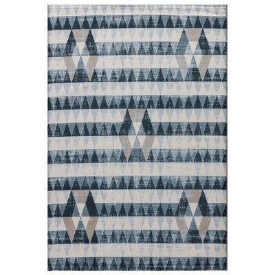 Langridge White/Tan Area Rug Rug Size: 5 x 76