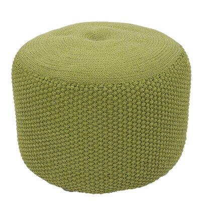 Flemingdon Solid Polypropylene Pouf Ottoman Upholstery: Green