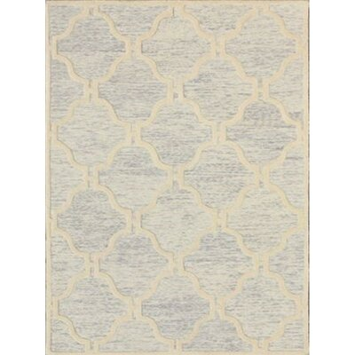 Medina Hand-Tufted Light Gray/Ivory Area Rug Rug Size: Rectangle 5 x 8