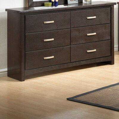 Aedan 6 Drawer Standard Dresser