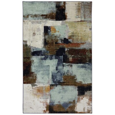 Shumake Chocolate Brown/Blue Area Rug