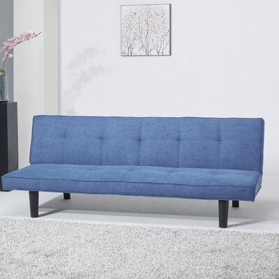 Chantal Wood Convertible Sleeper Sofa Upholstery: Royal Blue