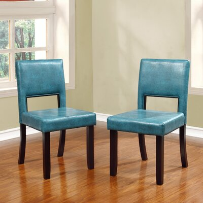 Menahan Side Chair Upholstery: Aegean Blue