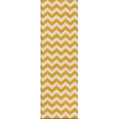 Davis Yellow Area Rug Rug Size: Runner 26 x 8