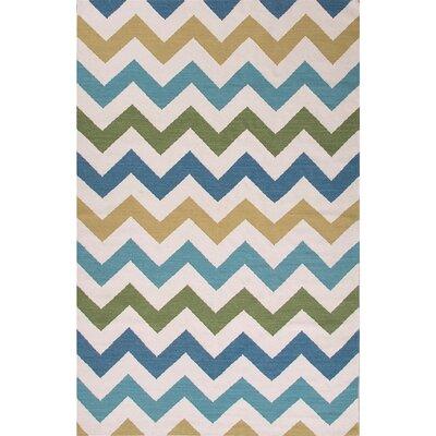 Davis Ivory/Blue Area Rug Rug Size: 2 x 3