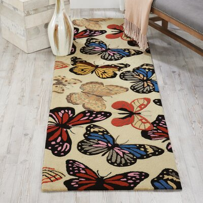 Railey Butterfly Area Rug Rug Size: Runner 23 x 8