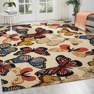 Railey Butterfly Area Rug Rug Size: 8 x 106