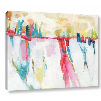 'Cityline Swing' by Sia Aryai Painting Print on Wrapped Canvas Size: 14