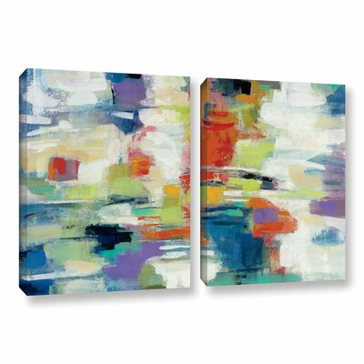 Island Town 2 Piece Painting Print on Wrapped Canvas Set Size: 18