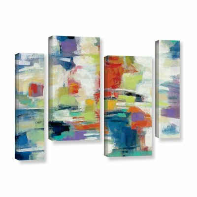 Island Town 4 Piece Painting Print on Wrapped Canvas Size: 24