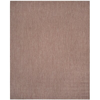 Jefferson Place Rust/Light Gray Outdoor Area Rug Rug Size: 8 x 11