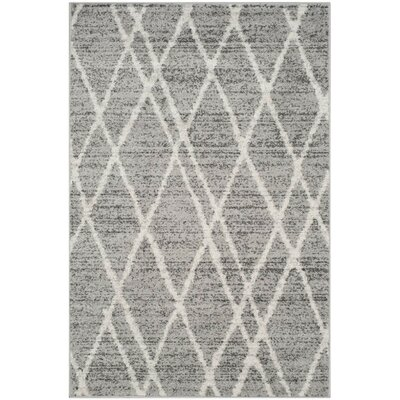 Seaport Gray/Ivory Area Rug Rug Size: 3 x 5