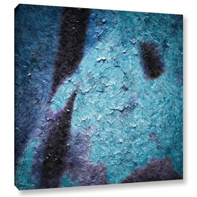 'Bluemine Snow Flower' by Scott Medwetz Painting Print on Wrapped Canvas Size: 10