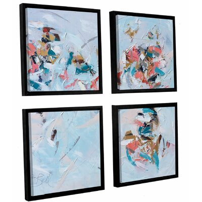 Abstract Entwined  4 Piece Framed Painting Print on Canvas Set Size: 36