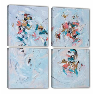 Abstract Entwined  4 Piece Painting Print on Wrapped Canvas Set Size: 36