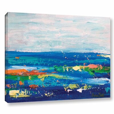 'Landscape' by Emma Bell 4 Painting Print on Wrapped Canvas Size: 14