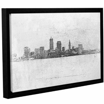 Cleveland Pointillism Framed Painting Print