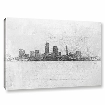 Cleveland Pointillism Painting Print on Wrapped Canvas
