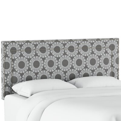 Edford Nail Button Border Medallion Upholstered Panel Headboard Size: Queen