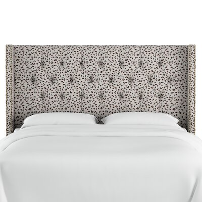 Grays Ferry Diamond Tufted Neo Leo Upholstered Wingback Headboard Size: King