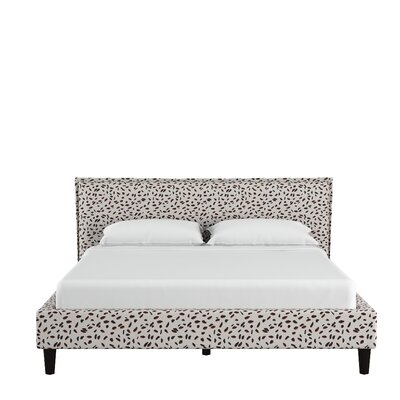Grays Ferry Seamed Neo Leo Upholstered Platform Bed Size: King