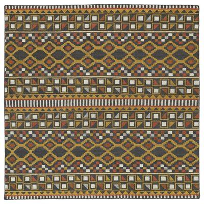 Marble Falls Charcoal Geometric Area Rug Rug Size: Square 8