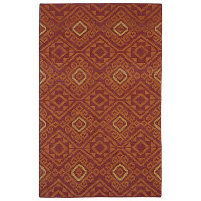Marble Falls Red Geometric Area Rug Rug Size: Rectangle 5 x 8
