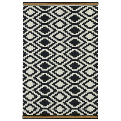 Marble Falls Black Geometric Area Rug Rug Size: Rectangle 36 x 56