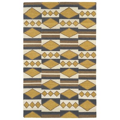 Marble Falls Gold Geometric Area Rug Rug Size: Rectangle 2 x 3