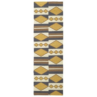 Marble Falls Gold Geometric Area Rug Rug Size: Runner 26 x 8