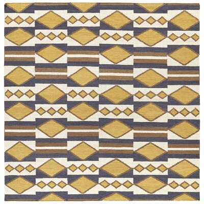 Marble Falls Gold Geometric Area Rug Rug Size: Square 8