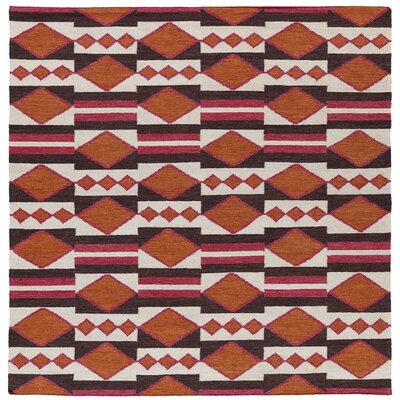 Marble Falls Tangerine Geometric Area Rug Rug Size: Square 8