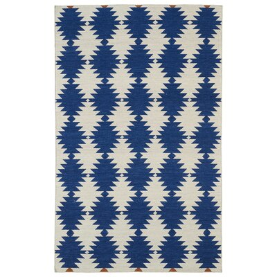 Marble Falls Navy Geometric Area Rug Rug Size: Rectangle 2 x 3