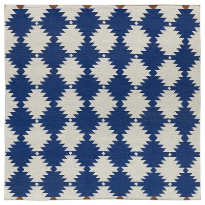Marble Falls Navy Geometric Area Rug Rug Size: Square 8
